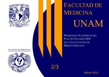 Plan 2010 Sexto y Séptimo Semestre - Facultad de Medicina - UNAM