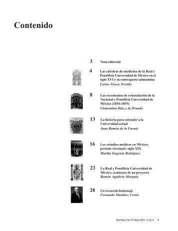 Volumen 4, Número 2, año 2001 - Facultad de Medicina - UNAM