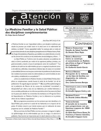 Aten Fam 2007 Vol 14 (2) marzo-abril - Facultad de Medicina - UNAM