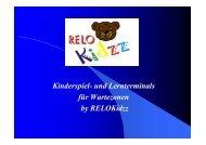 Kinderspiel- und Lernterminals für Wartezonen by RELOKidzz