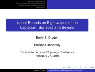 Upper Bounds on Eigenvalues of the Laplacian - Bucknell University