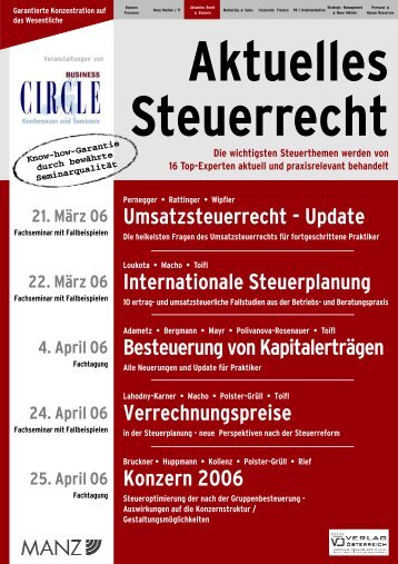 Umsatzsteuerrecht - Update Internationale ... - Factbook