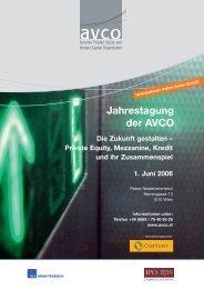 Jahrestagung der AVCO - Factbook