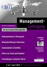 Management- Lehrgang - Factbook