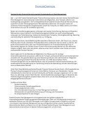 DaimlerChrysler Financial Services erweitert ... - Factbook
