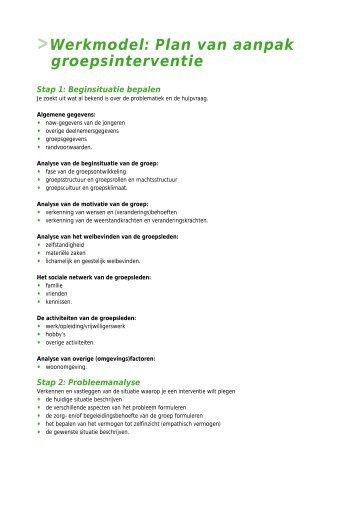 factor e plan van aanpak De cliënt in relatie tot factor e plan van aanpak