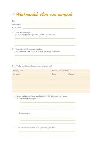factor e plan van aanpak Werkmodel: Lesvoorbereiding   Factor E factor e plan van aanpak