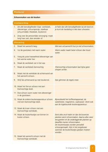 Protocol: Schoonmaken van de keuken - Factor-E