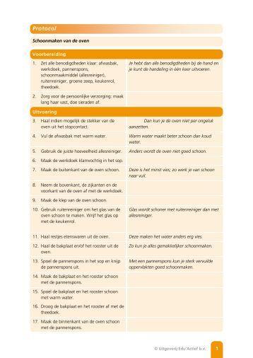 Protocol: Schoonmaken van de oven - Factor-E