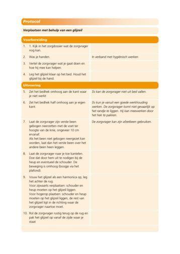 Protocol: verplaatsen met behulp van een glijzeil - Factor-E