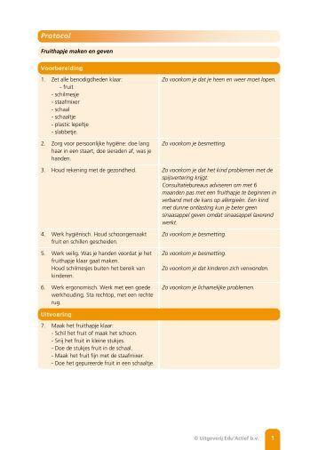 Protocol: Fruithapje maken en geven - Factor-E