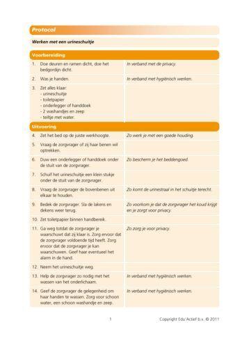 Protocol: werken met een urineschuitje - Factor-E