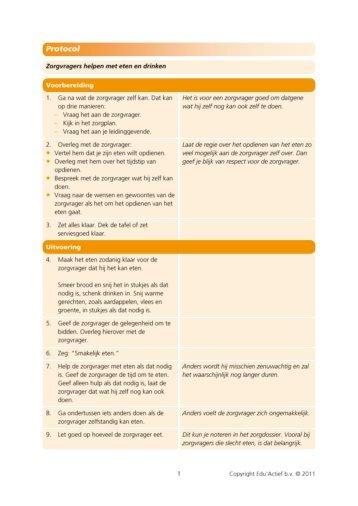 Protocol: Zorgvrager helpen met eten en drinken - Factor-E