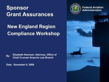 Sponsor Grant Assurances - FAA