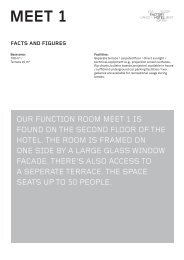 Meet 1 seating plan (PDF) - Factory Hotel