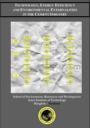 technology, energy efficiency and environmental externalities in the ...
