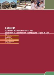 Barriers to promoting energy efficient and environmentally friendly ...