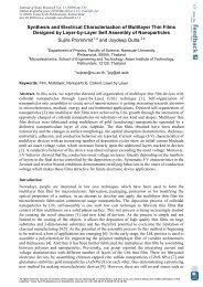 Synthesis and Electrical Characterization of Multilayer Thin Films ...