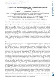 Chitosan Clad Manganese Doped Zing Sulphide Nanocrystallites ...