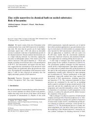 Zinc oxide nanowires in chemical bath on seeded substrates: Role ...