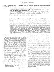 Role of Resonance Energy Transfer in Light Harvesting of Zinc ...