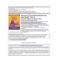 Toxic/Hazardous Substances and Environmental - faculty.ait.ac.th ...