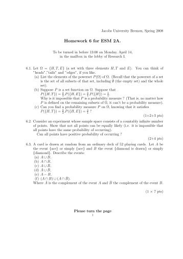 Homework 6 for ESM 2A. - Faculty.jacobs-university.de - Jacobs ...