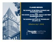 Presentation - Georgia Tech Faculty Governance - Georgia Institute ...
