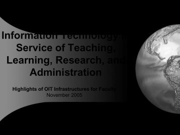 Information Technology in Service of Teaching, Learning, Research ...