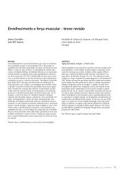 Aging and muscle strength - a brief review - Faculdade de Desporto ...