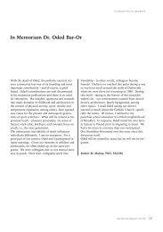 In Memoriam Dr. Oded Bar-Or - Faculdade de Desporto da ...