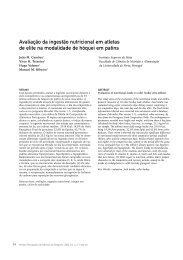 Evaluation of nutritional intake in roller hockey elite athletes