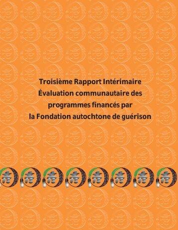 Troisième Rapport Intérimaire Évaluation communautaire des ...