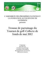 Trousse de parrainage du Tournoi de golf-Collecte de fonds de mai ...