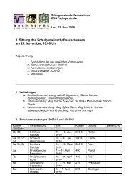 1. Sitzung des Schulgemeinschaftsauschusses am 23. November ...