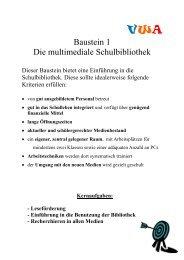 Baustein 1 Die multimediale Schulbibliothek