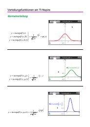 Verteilungsfunktionen am TI-Nspire