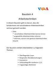 Baustein 4 Arbeitstechniken