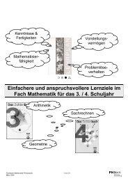 Grobziele, Lernziele und Inhalte 3. / 4. Schuljahr ...