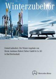 Eiskalt kalkuliert. Die Winter-Angebote von Ihrem Autohaus Hubert ...