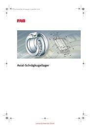 FAG Axial-Schraegkugellager - Lenhart & Hasenöhrl GmbH