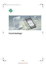 INA Einstell-Nadellager - Lenhart & Hasenöhrl GmbH