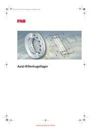 FAG Axial-Rillenkugellager - Lenhart & Hasenöhrl GmbH