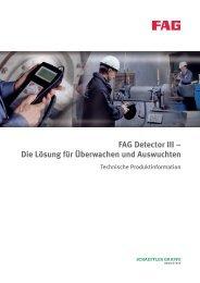 FAG Detector III – Die Lösung für Überwachen und Auswuchten