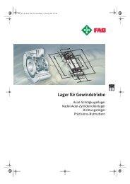 Lager für Gewindetriebe - Lenhart & Hasenöhrl GmbH