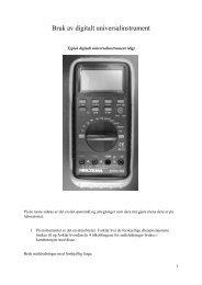 Stort forsøk om elektriske målinger