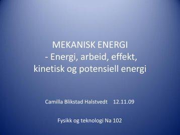 MEKANISK ENERGI