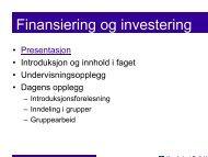 Finansiering og investering - Høgskolen i Østfold