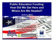 Public Education Funding: How Did We Get Here and Where Are ...