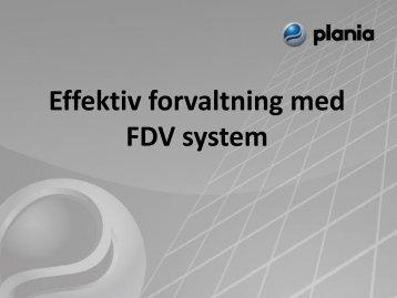 Effektiv forvaltning med FDV system - Fagforbundet